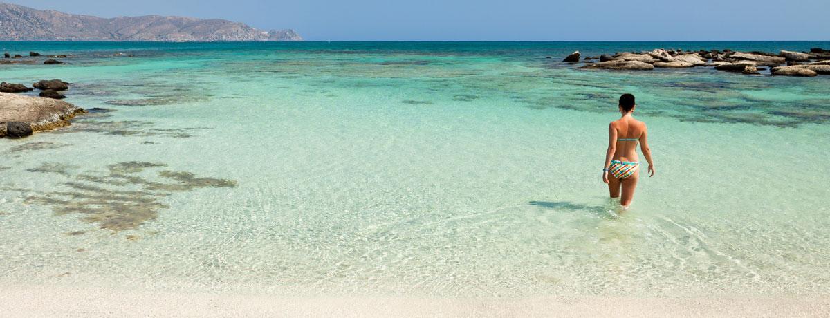 Elafonisi strand op Kreta