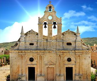 Het bijzonder mooie Arkadi klooster op Kreta