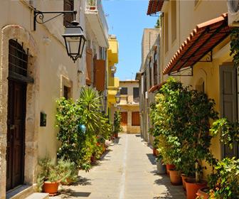 Gezellig straatje in Rethymnon op Kreta