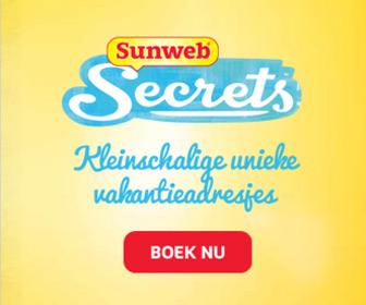Boek met Sunweb Secrets de meest unieke kleinschalige vakantieadresjes