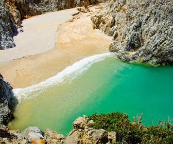 Strand in Chania op Kreta