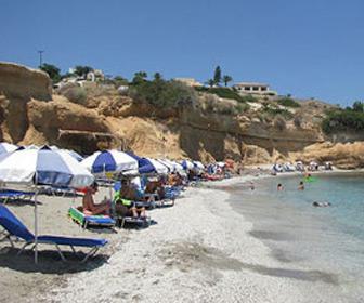 Chersonissos strand op Kreta