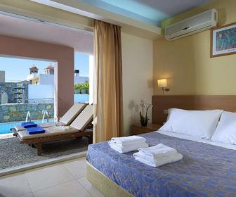 Hotel Sissi Bay heeft ook mooie kamers. Boek Sissi Bay bij de Vakantiediscounter