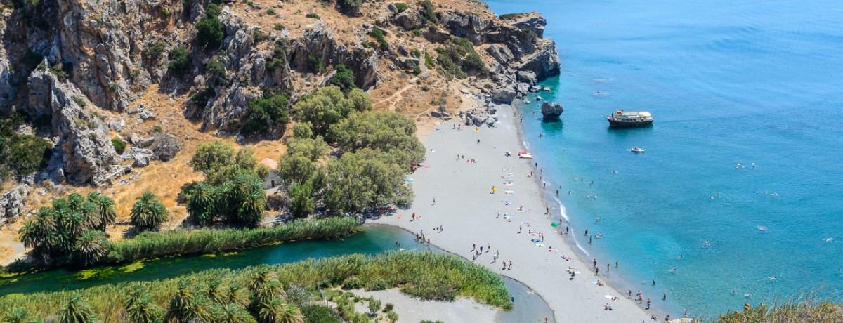 Preveli Beach is een van de mooiste stranden van Kreta