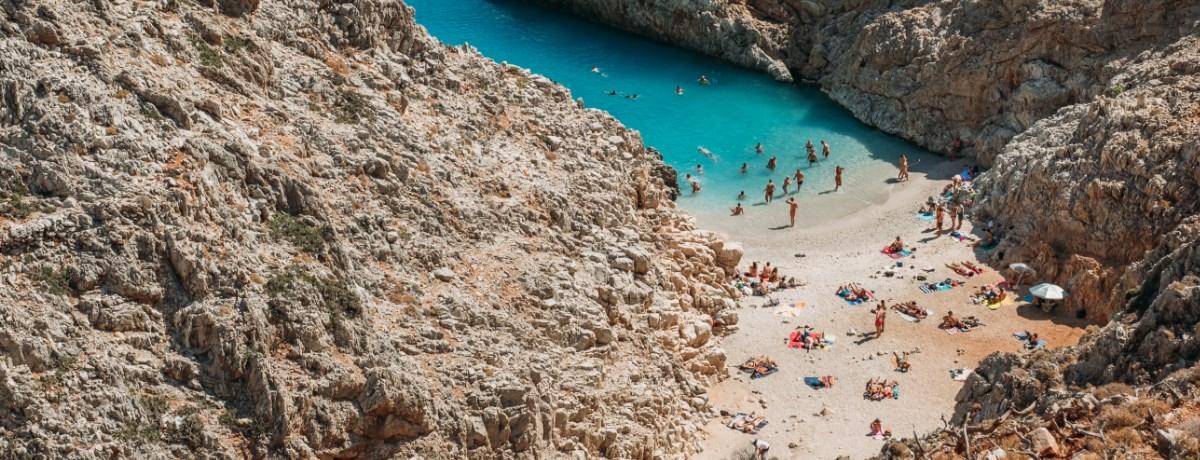 Seitan Limania beach is een mooi strand op Kreta
