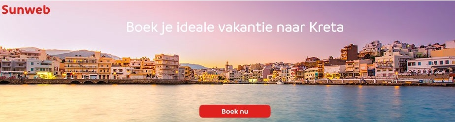 Last minute Kreta vakanties boekt u op Sunweb