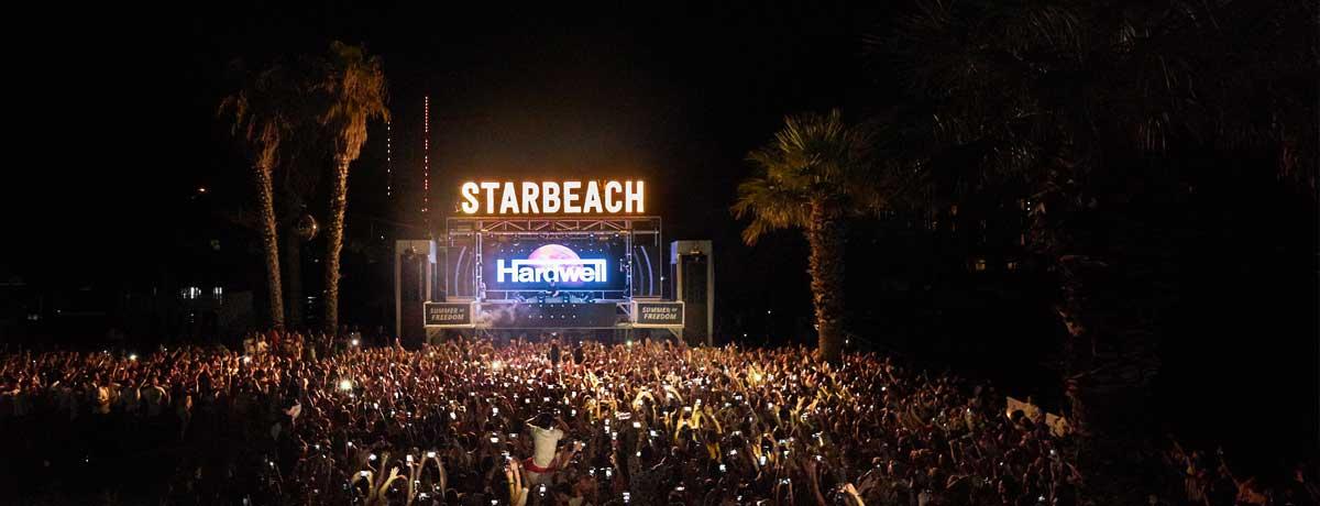 Starbeach feesten met de beste dj's zoals Hardwell