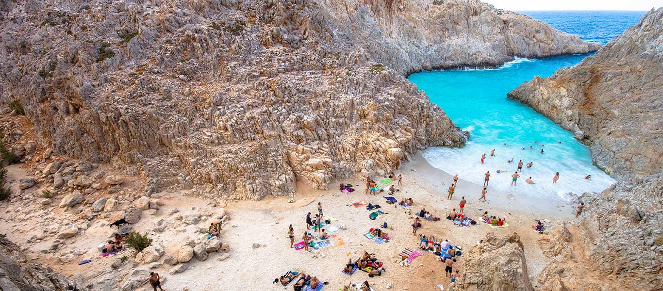 Seitan Limania beach is een van de mooiste stranden op Kreta